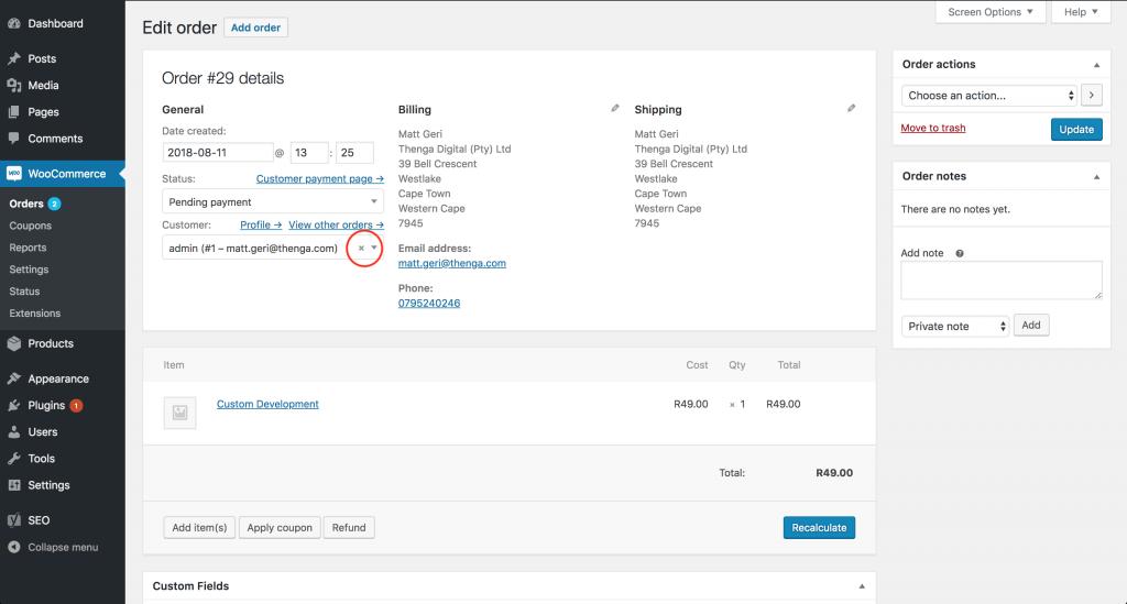 WooCommerce Remove Customer Add Guest