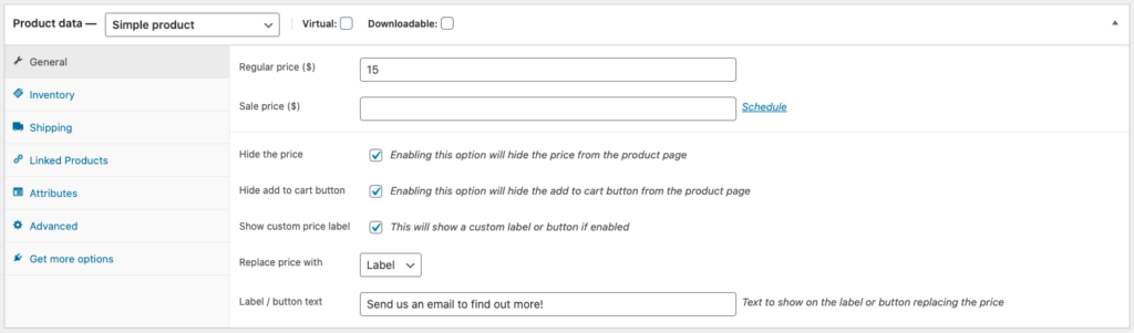 1 - WooCommerce Hide Prices Options